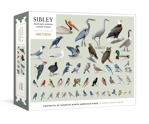 Image for SIBLEY BACKYARD BIRDING PUZZLE: 1000-PIECE JIGSAW PUZZLE WITH PORTRAITS OF FAVORITE NORTH AMERICAN B