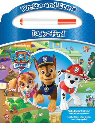 Image for Nickelodeon - Paw Patrol - Write-and-Erase Look and Find Wipe Clean Board Book - PI Kids