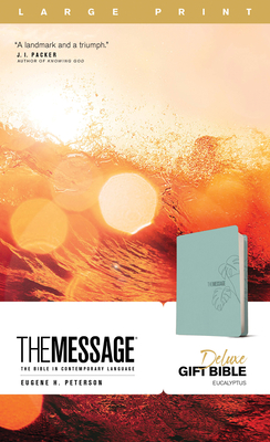 Image for The Message Deluxe Gift Bible, Large Print (Leather-Look, Teal): The Bible in Contemporary Language